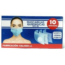 MASCARILLA QUIRÚRGICA IIR TRIPLE CAPA